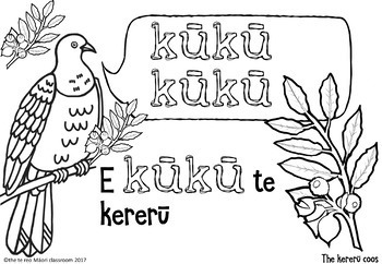 Te Reo Māori: Whakataukī Collaborative Poster-Native Birds