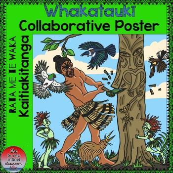 Te Reo Māori Whakataukī Collaborative Poster- Rata and the Waka