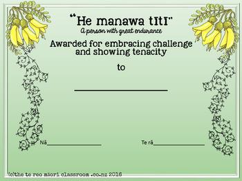 Te Reo Māori Whakatauki and Values Certificates