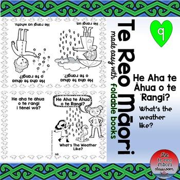 Te Reo Māori: What's The Weather Like? - Foldable Book #9