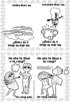 Te Reo Māori: What's The Weather Like? - Foldable Book #9