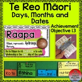 Te Reo Māori- Days, Months and Dates.