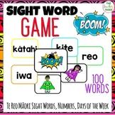 Te Reo Māori Sight Words BOOM Card Game Maori Language Week