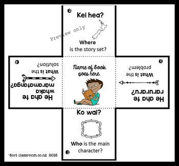 "Te Reo Māori "" Story recall"" flap book"