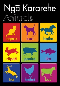 Te Reo Maori - Animals (POSTER)
