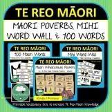 Te Reo Maori BUNDLE Maori Proverbs Whakatauki Posters Mihi Word Wall 100 Words