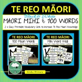 Te Reo Maori BUNDLE Mihi Word Wall 100 Words Every New Zealand Person ShouldKnow