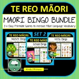 Te Reo Maori Games 3 Bingo BUNDLE Maori New Zealand Set 2