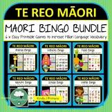 Te Reo Maori Bingo Games BUNDLE Maori Language New Zealand