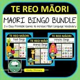 Te Reo Maori Bingo Games BUNDLE 3 Maori Language Games