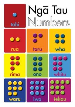 Te Reo Maori - Numbers 1 to 10 (POSTER)