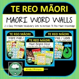 Te Reo Maori Posters Decor Word Wall & Vocabulary Labels BUNDLE Bright Te Reo