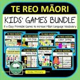 Te Reo Maori Vocabulary Games for Kids BUNDLE Maori Langua