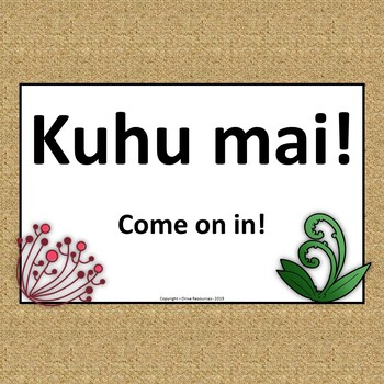 Te Reo Maori signs for English and 21st C skills