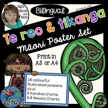 Maori Posters Bilingual Bundle (Te reo Maori / English)