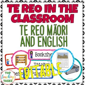 Te Reo in the Classroom Multi-purpose Te Reo and English Cards
