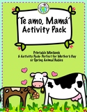 Te amo Mamá Mother's Day Activity Pack in Spanish