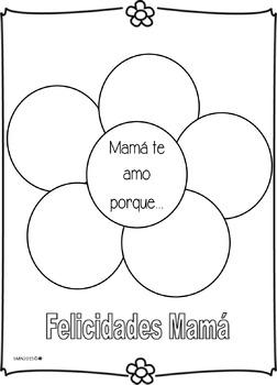 Te amo mamá porque...