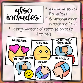 ¿Te gusta...? Interactive Powerpoint with Pictures and Thumbs Up/Down Cards