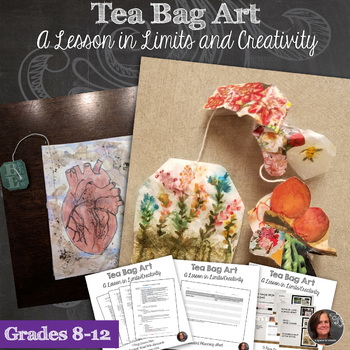 Mixed Media teabag Art - A Lesson in Limits and Creativity