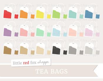 Tea Bag Clipart; Tea Party, Drink