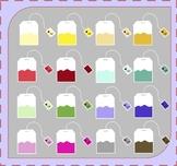 Tea Bags Clipart / Tea Clipart (Beverage Clipart)