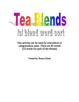 Tea Blend- /s/ blend activity