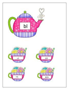 Tea Blends, a Language Arts unit on blends