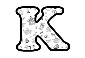 Tea, Kettle, Cupcakes, Letters, Numbers and Symbols, Food Classroom Decor