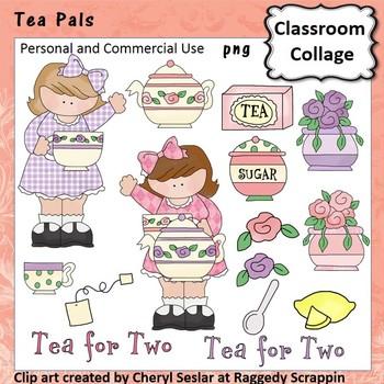 Tea Pals Clip Art personal & commercial use C Seslar