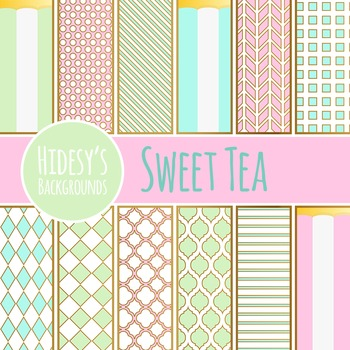 Tea Party - Bone China Inspired Backgrounds / Digital Papers Clip Art