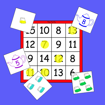 Tea Party Game (Counting On Strategy for Addition)