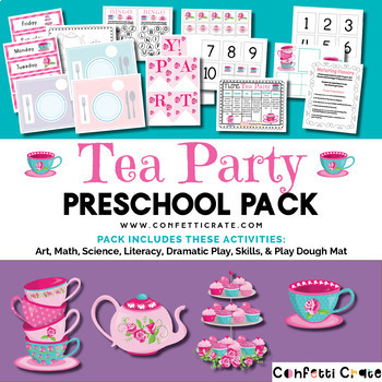Tea Party Preschool Unit (Preschool or Homeschool)