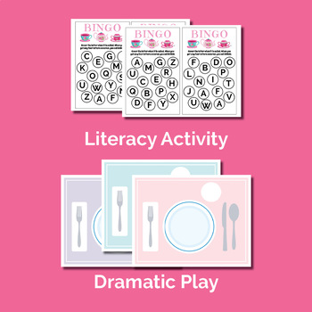 Tea Party Activities Preschool (color and black & white version)