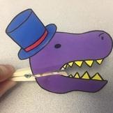 T-Rex Tea Party Puppets
