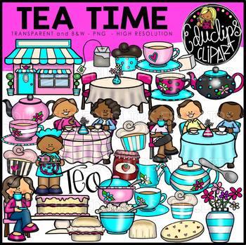Tea Time Clip Art Bundle {Educlips Clipart}