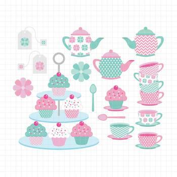 Tea Time-Digital Clipart (LES.CL08)