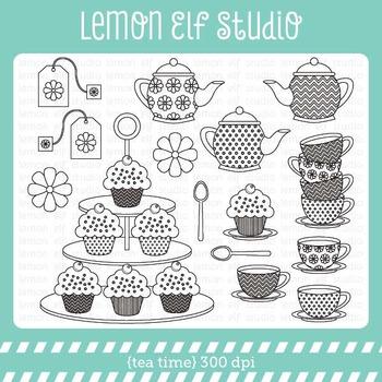 Tea Time-Digital Stamp (LES.DS07)