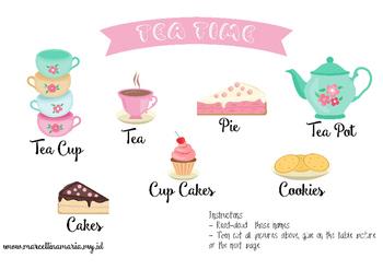 Tea Time Fun Worksheet