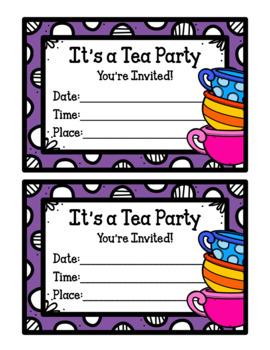 Tea Time Pack (Tea Party & Tea Shop Dramatic Play)