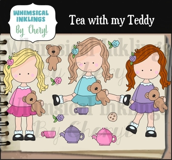 Tea With My Teddy Clipart Collection