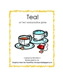 "Tea!  an ""ea"" word practice game, using ""ea"" vowel partners"
