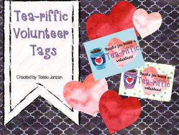 Tea-riffic Volunteer Tags