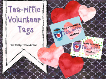 Tea-riffic Volunteer Tags