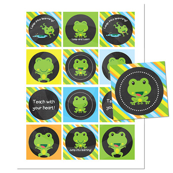 Teacher Gift Tags \\ Chalkboard Frog Theme