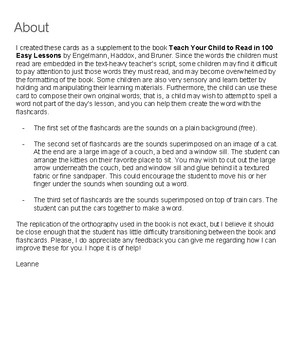 Teach 2 Read Flashcards