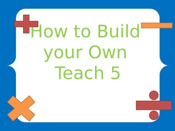 Teach 5 How To Packet {Editable}