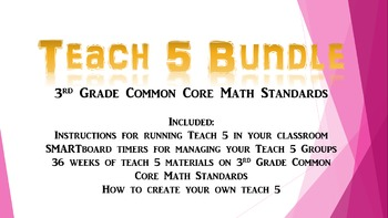 Teach 5 Third Grade Math Bundle