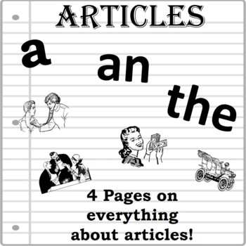 ARTICLES- 7 Printable Worksheets Grammar Rules and Practice. A ...