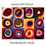 Art Lesson Teach Kandinsky to K - 5th Grade: Circles Art History and Project